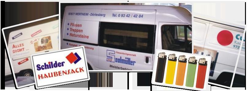 Fahrzeugbeschriftung und Werbemittel